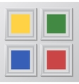 wooden square picture frames color rainbow set vector image vector image