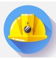 Yellow construction worker helmet with flashlight vector image vector image