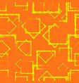 yellow diamonds and squares in the intersection vector image vector image