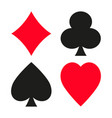 set of symbols of playing cards suit vector image
