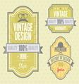 Vintage labels resize vector image