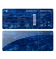 Blue boarding card vector image