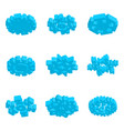 3d isometric snowflake icon with various vector image vector image