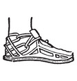 a protection for the foot vintage engraving vector image vector image