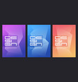 abstract gradient minimalist cover designs vector image vector image