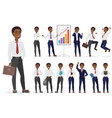 african american businessman character different vector image vector image