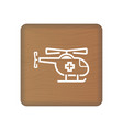 air medical service icon medical helicopter sign vector image
