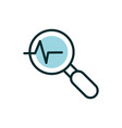 analysis cardiology equipment medical icon line vector image