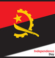 angola independence day vector image