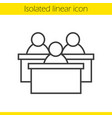 audience linear icon vector image