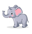 baby elephant stands and smiles vector image vector image
