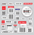 Barcode Packaging business Labels vector image vector image