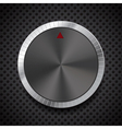 Black Volume Button Knob vector image vector image