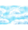 blue watercolor cloudy blue sky background vector image vector image