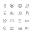 business and mobile technology icon set line icon vector image vector image