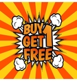Buy one get 1 free poster vector image