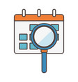 calendar reminder magnifier social media icon vector image