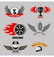 Car racing badges and motorcycle service vector image vector image