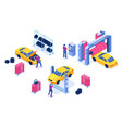 car service auto maintenance garage spare change vector image vector image