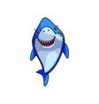 carnivore cute blue shark smile like a good friend vector image vector image