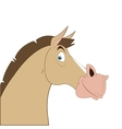 cartoon style horse icon vector image