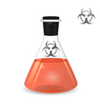 Chemical conical flask with toxic solution vector image vector image