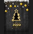 christmas 2020 vector image vector image