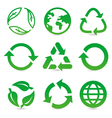 collection with recycle signs vector image vector image