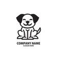 cute dog logo animal pet vector image