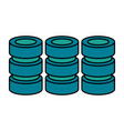 databases web hosting icon image vector image vector image