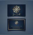 elegant business card design with gold mandala vector image