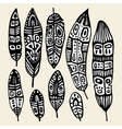 Ethnic Feather set vector image vector image