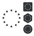 European Union icon set monochrome vector image