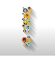 Exclamation mark made up of people with avatars vector image vector image