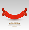 festive red ribbon isolated on a gray backgroundvs vector image vector image