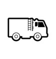 fire truck icon design template isolated vector image