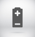 Flat Battery Sign Charging Energy Symbol vector image vector image