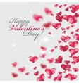 Flying red hearts Happy Valentine Day vector image vector image