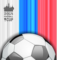 football championship banner russia 2018 sport vector image