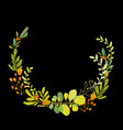 foral flowers wreath vector image vector image