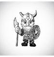 Funny cartoon viking vector image