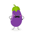 funny eggplant character vector image