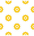 gear pattern seamless vector image vector image