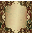 Gold frame floral vector | Price: 1 Credit (USD $1)