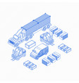 graphic blue icons for cargo delivery vector image vector image