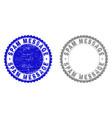 grunge spam message textured stamp seals vector image vector image