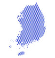 halftone abstract south korea map vector image