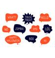 halloween bubbles speech stickers autumn vector image