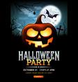 halloween party ghost pumpkin poster vector image vector image