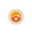 home sun logo icon design vector image